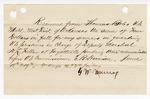 1883 June 19: Partial Voucher, U.S. v. W.J. Ferguson, violating internal revenue laws; includes costs of service of warrant, 2 days feeding 1 prisoner; W.R. Swope, witness; J.W. Murray, guard; served by H.L. Fallin, deputy marshal; E.B. Harrison, commissioner