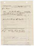 1883 June 19: Partial Voucher, U.S. v. Lewis Morgan, violating internal revenue laws; includes costs of service of warrant, 2 days feeding 1 prisoner; Ned Still, Lock Morton, witnesses; served by H.L. Fallin, deputy marshal; E.B. Harrison, commissioner