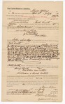 1883 July 11: Voucher, U.S. v. Henry Chalk, One Peter, John Boustead and others; paid to Bruce McKee for 78 days service as posse comitatus; employed by Benton Turner, U.S. deputy marshal; issued by Stephen Wheeler, commissioner and clerk; includes names of arrested: Billy Shucky, Bob Burress, Elias Springs, King Whitehill, Sam Russell; G.S. Williams, clerk; Thomas Boles, U.S. marshal