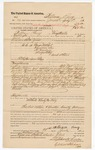 1883 July 28: Voucher, U.S. v. George Mitchell, Dunma (alias H. Finley), Alonzo Petty and others; to William Perry for 24 days service as posse comitatus; employed by W.F. Jones, U.S. deputy marshal; issued by E.B. Harrison, U.S. commissioner; includes names of arrested, Israel Crittenden, Jobe Parrish, Walker Bishop, Samuel Garrett, and E.J. Sim; Stephen Wheeler and G.S. Williams, clerks; Thomas Boles, U.S. marshal