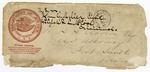 1885 November: Envelope, Department of Justice envelope addressed to H.H. Clayton, U.S. attorney; John G. Miller; Elijah R.L. McCool