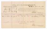 1883 November 15: Voucher, U.S. v. Bid Davis, larceny in the Indian Country; William H. Ellis, witness; includes cost of per diem and mileage ; E.B. Harrison, U.S. commissioner; Thomas Boles, U.S. marshal