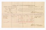 1883 December 23: Voucher, U.S. v. Thomas Patton, larceny in the Indian Country; Stephen Wheeler, U.S. commissioner; includes cost of per diem and mileage; Frank Johnson, George Joel, W.S. Fulsome (line through name), witnesses; Thomas Boles, U.S. Marshal