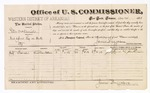 1883 December 28: Voucher, U.S. v. Peter McDaniel, introducing spirituous liquors in Indian Country; James Brizzolara, U.S. Commissioner; includes cost of per diem and mileage; Jeff French, witness; John Paterson, witness of signatures; Thomas Boles, U.S. marshal