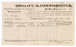 1883 December 20: Voucher, U.S. v. Bery Greenleaf, retail liquor dealer not paying special tax; James Brizzolara, U.S. Commissioner; includes cost of per diem and mileage; J.A. Dwane, witness; Thomas Boles, U.S. marshal