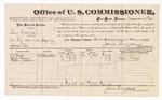 1883 December 22: Voucher, U.S. v. Bery Greenleaf, retail liquor dealer not paying special tax; James Brizzolara, U.S. Commissioner; includes cost of per diem and mileage; G.C. Reed, George Chaney, Stephen Jackson, witnesses; Thomas Boles, U.S. marshal