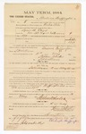 1885 January 26: Voucher, to Ambrose Buffington, witness in U.S. v. Squirrel Carey, introducing spirituous liquors into Indian Country; includes cost of mileage; Stephen Wheeler, clerk; S.A. Williams, deputy clerk; R.C. Bollinger, witness to signatures; Alexander May; Thomas Boles, U.S. marshal