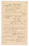 1885 February 11: Voucher, to William G. Stone, witness in U.S. v. Benjamin P. Marshall, et. Al, larceny; includes cost of mileage; Stephen Wheeler, clerk; Thomas D. Larham, deputy clerk; Thomas Boles, U.S. marshal; J.M. Polles, witness to signatures