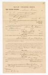 1885 January 26: Voucher, to Simon Fulsome, witness in U.S. v. Kirk Napoleon, arson; includes cost of mileage; Stephen Wheeler, clerk; S.A. Williams, deputy clerk; Chris A. Pansze, Max A. Mayer, witnesses to signatures; Thomas Boles, U.S. marshal