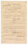 1885 January 26: Voucher, to John M. Henderson; includes cost of witness in U.S. v. Benjamin P. Marshall, larceny; Stephen Wheeler, clerk; S.A. Williams, deputy clerk; Thomas Boles, U.S. marshal