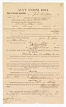 1885 January 26: Voucher, to John M. Adair; includes cost of witness in U.S. v. Abraham Pollard et. al., larceny; Stephen Wheeler, clerk; S.A. Williams, deputy clerk; Thomas Boles, U.S. marshal; J.C. Wilkinson, witness to signatures