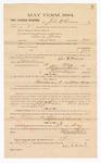 1884 May 12: Voucher, to John H. Parsons; includes cost of witness in U.S. v. David Owens, larceny; Stephen Wheeler, clerk; S.A. Williams, deputy clerk; Thomas Boles, U.S. marshal