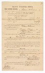1884 May 12: Voucher, to William A. Parsons; includes cost of witness in U.S. v. David Owens, larceny; Stephen Wheeler, clerk; S.A. Williams, deputy clerk; Thomas Boles, U.S. marshal