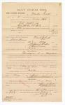 1885 February 11: Voucher, to Martin Dick; includes cost of witness in U.S. v. John McCarthy, larceny; Stephen Wheeler, clerk; S.A. Williams, deputy clerk; Thomas Boles, U.S. marshal; William Feuerstine, witness of signatures