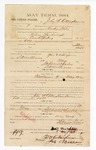 1885 February 3: Voucher, to John W. Cottingham; includes cost of witness in U.S. v. Wilson Yarbrough, counterfeiting; Stephen Wheeler, clerk; S.A. Williams, deputy clerk; Thomas Boles, U.S. marshal; James Murray, W. Alex, witness of signatures