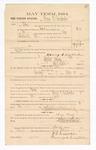 1885 March 13: Voucher, to Henry C. Limbocken; includes cost of witness as grand juror; Stephen Wheeler, clerk; Thomas B. Larham, deputy clerk; Thomas Boles, U.S. marshal; T.C. Davis, witness of signatures