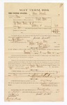 1885 January 24: Voucher, to James Samuels; includes cost of witness in U.S. v. Henry House et. al. distilling in Indian Country; Thomas B. Larham, deputy clerk; Stephen Wheeler, clerk; Thomas Boles, U.S. marshal; James Hill, witness of signatures