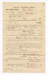 1885 January 22: Voucher, to William Hawkins; includes cost of witness in U.S. v. Daniel Lucky, larceny; Thomas B. Larham, deputy clerk; Stephen Wheeler, clerk; Thomas Boles, U.S. marshal; Chris A. Pansze, Max A. Mayer, witnesses of signatures