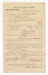 1885 February 16: Voucher, to Charles McCauley; includes cost of witness in U.S. v. Charles Carter, introducing spirituous liquors into Indian Country; S.A. Williams, deputy clerk; Stephen Wheeler, clerk; Thomas Boles, U.S. marshal; William Shields