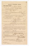 1885 January 22: Voucher, to Henry Chalk; includes cost of witness in U.S. v. One Bird, larceny; S.A. Williams, deputy clerk; Stephen Wheeler, clerk; Thomas Boles, U.S. marshal; Max Mayer, witness of signatures