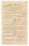 1885 January 22: Voucher, to Noble Washington; includes cost of witness in U.S. v. Jerry Fleetwood, larceny; S.A. Williams, deputy clerk; Stephen Wheeler, clerk; Thomas Boles, U.S. marshal; Max Mayer, witness of signatures
