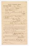 1885 January 22: Voucher, to Lennon Harkins; includes cost of witness in U.S. v. Harrison Cleveland, murder; Thomas B. Larham, deputy clerk; Stephen Wheeler, clerk; Thomas Boles, U.S. marshal; Max Mayer, Abe Mayer, witness of signatures