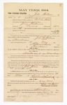 1885 January 26: Voucher, to John Holmes; includes cost of witness in U.S. v. Jerry Fleetwood, larceny; S.A. Williams, deputy clerk; Stephen Wheeler, clerk; Thomas Boles, U.S. marshal; E.R. Weitzel, witness of signatures