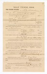 1885 January 26: Voucher, to Silas Richardson; includes cost of witness in U.S. v. James Grayson, assault with intent to kill; S.A. Williams, deputy clerk; Stephen Wheeler, clerk; Thomas Boles, U.S. marshal; Joseph Sodler, witness of signatures