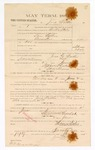 1885 January 23: Voucher, to Jesse Walker; includes cost of witness in United States v. Sam Leflore, assault with intent to kill; S.A. Williams, deputy clerk; Stephen Wheeler, clerk; Thomas Boles, U.S. marshal; Max A. Mayer, witness of signatures