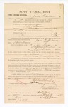 1885 March 6: Voucher, to Jesse Redman; includes cost of witness in United States v. Jeff Robinson, murder; S.A. Williams, deputy clerk; Stephen Wheeler, clerk; Thomas Boles, U.S. marshal; J.C. Wilkinson, witness of signatures