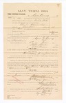 1885 January 23: Voucher, to Agnes Carney; includes cost of witness in United States v. Charles Harris et. al., assault with intent to kill; S.A. Williams, deputy clerk; Stephen Wheeler, clerk; Thomas Boles, U.S. marshal; Max A. Mayer, witness of signatures
