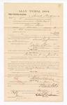 1885 March 6: Voucher, to Samuel Steadman; includes cost of witness in United States v. Abram Davis, murder; S.A. Williams, deputy clerk; Stephen Wheeler, clerk; Thomas Boles, U.S. marshal; J.C. Wilkinson, witness of signatures