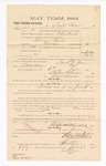 1885 January 23: Voucher, to Sauk Vann; includes cost of witness in United States v. Abram Davis, murder; S.A. Williams, deputy clerk; Stephen Wheeler, clerk; Thomas Boles, U.S. marshal; Max A. Mayer, witness of signatures
