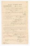 1885 January 23: Voucher, to Naurine Reed; includes cost of witness in United States v. Abram David, murder; S.A. Williams, deputy clerk; Stephen Wheeler, clerk; Thomas Boles, U.S. marshal; Max A. Mayer, witness of signatures
