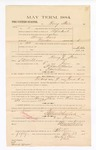 1885 January 23: Voucher, to Harry Starr; includes cost of witness in United States v. Abram Davis, murder; S.A. Williams, deputy clerk; Stephen Wheeler, clerk; Thomas Boles, U.S. marshal; Max A. Mayer, witness of signatures