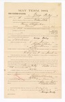 1885 January 23: Voucher, to George Briley; includes cost of witness in United States v. Thomas Stufferbean, murder; S.A. Williams, deputy clerk; Stephen Wheeler, clerk; Thomas Boles, U.S. marshal