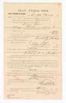 1885 January 23: Voucher, to Crockett Mackey; includes cost of witness in United States v. Abram Davis, murder; S.A. Williams, deputy clerk; Stephen Wheeler, clerk; Thomas Boles, U.S. marshal; Max A. Mayer, witness of signatures