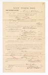 1885 January 23: Voucher, to Robert Childers; includes cost of witness in United States v. William Clingham, murder; S.A. Williams, deputy clerk; Stephen Wheeler, clerk; Thomas Boles, U.S. marshal