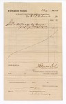 1884 June 10: Voucher, to R. and J.A. Emeris; includes cost of indexed bound book; Thomas Boles, U.S. marshal