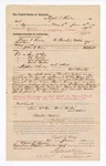 1884 June 24: Voucher, to Wyatt T. Kirby, of Choctaw Nation, for assisting John G. Farr, U.S. deputy marshal, in U.S. v. Sam McCoy, U.S. v. Ed Foukes, U.S. v. Alex Jackson, U.S. v. Bane Butler, and others; includes cost of services as posse comitatus; Isaac Butler, Mollie Speck; Stephen Wheeler, U.S. commissioner; Thomas B. Larham, deputy clerk; O.K. Clayton, John G. Gass, witness of signatures