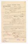 1885 January 21: Voucher, to William Lipps; includes cost of witness in United States v. Sam Snow, murder; Stephen Wheeler, clerk; S.A. Williams, deputy clerk; Thomas Boles, U.S. marshal; C.M. Barnes, chief deputy; William Feuerstine, witness of signatures