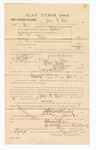 1885 August 4: Voucher, to James W. Black; includes cost of witness in United States v. Sam Snow, murder; Thomas B. Larham, deputy clerk; Stephen Wheeler, clerk; Thomas Boles, U.S. marshal; C.M. Barnes, chief deputy