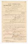 1885 January 12: Voucher, to Burrell Hawkins: includes cost of petit juror; S.A. Williams, deputy clerk; Stephen Wheeler, clerk; Thomas Boles, U.S. marshal; C.M. Barnes, chief deputy; Henry Reutzel, witness of signatures