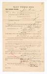 1885 January 9: Voucher, to John Dodson; includes cost of petit juror; S.A. Williams, deputy clerk; Stephen Wheeler, clerk; Thomas Boles, U.S. marshal; C.M. Barnes, chief deputy