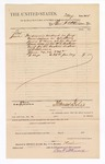 1884 June 26: Voucher, to Ben F. Atkinson; includes cost of service as jury commissioner; Thomas Boles, U.S. marshal