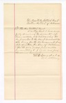 1884 June 30: Letter, from W.H. Saudels, U.S. Attorney, to the District Court of the Western District of Arkansas, Fort Smith, Arkansas; regarding the review of the account B, No. 4072 of Thomas Boles, U.S. marshal