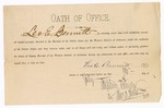 1884 July 26: Oath of Office, for Leo E. Bennitt, deputy marshal; Stephen Wheeler, clerk; Thomas D. Lastram, deputy clerk