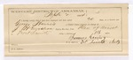 1884 September 2: Partial Voucher, U.S. v. George Harris, introducing spiritous liquor in the Indian Country; includes cost per diem and mileage; includes oath of service; J.H. Mershon, deputy marshal; James Davis, guard; Riley Arnus, Lizzie Frenchey, Dora Simpson, witness; Stephen Wheeler, commissioner