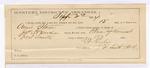 1884 September 2: Partial Voucher, U.S. v. Annie Stone; includes cost per diem and mileage; includes oath of service; J.H. Mershon, deputy marshal; Ed Haglin, guard: James Allen, John Allen, J. Gutsby, witness: James Brizzolara, commissioner