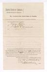 1884 November 28: Venire facias, commanding the summons of George Tilles, J.J. Little, William H. Cleveland, Louis Miller, as petit jurors; Isaac C. Parker, judge; Stephen Wheeler, clerk; Thomas Boles, U.S. marshal; J. Paterson, deputy
